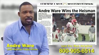 Mauro, Archer, O'Neill Law Firm TV Spot, 'Just For Men Lawsuit' Featuring Andre Ware - Thumbnail 1