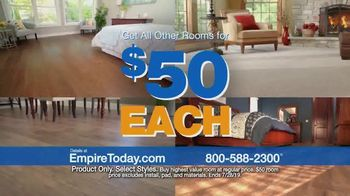 Empire Today $50 Room Sale TV Spot, 'Transform Your Entire Home for Less'