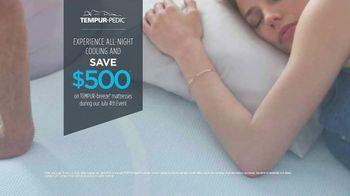 Relax the Back July 4th Event TV Spot, 'Tempur-Pedic Mattresses'