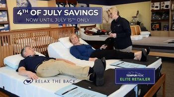 Relax the Back July 4th Event TV Spot, 'Tempur-Pedic Mattresses' - Thumbnail 3