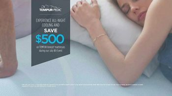 Relax the Back July 4th Event TV Spot, 'Tempur-Pedic Mattresses' - Thumbnail 5