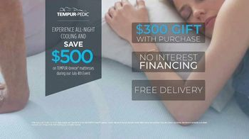 Relax the Back July 4th Event TV Spot, 'Tempur-Pedic Mattresses' - Thumbnail 8