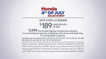 Honda 4th of July Sales Event TV Spot, 'Life's Best Adventures' [T2] - Thumbnail 8