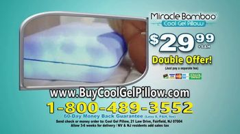 Miracle Bamboo Cool Gel Pillow TV Spot, 'Revolutionary Gel-Infused Memory Foam' - Thumbnail 9