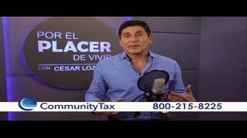 Community Tax TV Spot, 'El placer de vivir' con César Lozano [Spanish]