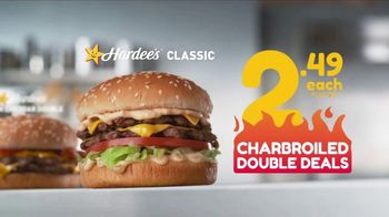 Hardee's Charbroiled Double Deals TV Spot, 'Is This Real' - 1 commercial airings