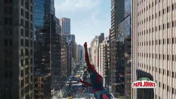 Papa John\'s XL Two Topping Superhero Pizza TV Spot, \'Spider-Man: Feed Your Hunger\'