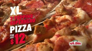 Papa John's XL Two Topping Superhero Pizza TV Spot, 'Spider-Man: Feed Your Hunger' - Thumbnail 8