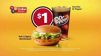 McDonald's $1 $2 $3 Dollar Menu TV Spot, 'Hot 'N Spicy McChicken and Dr Pepper' - Thumbnail 4