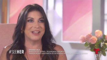 L'Oreal Paris TV Spot, 'Telemundo Deportes: See Her' con Viviana Vila [Spanish] - 7 commercial airings