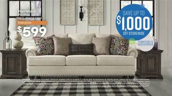 Ashley HomeStore Columbus Day Sale TV Spot, 'Going On Now: Sofa' Song by Midnight Riot - Thumbnail 4