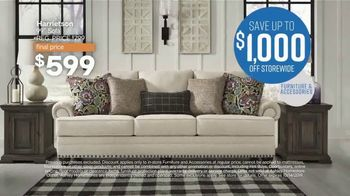 Ashley HomeStore Columbus Day Sale TV Spot, 'Going On Now: Sofa' Song by Midnight Riot - Thumbnail 5
