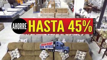 American Freight Gran Venta Semestral TV Spot, 'Juegos de comedor y colchones' [Spanish] - Thumbnail 1