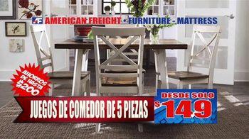 American Freight Gran Venta Semestral TV Spot, 'Juegos de comedor y colchones' [Spanish] - Thumbnail 2