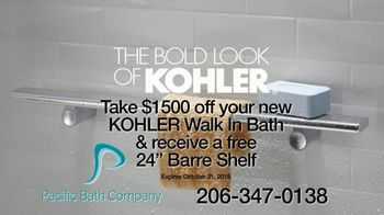 Kohler's Walk-In Bath TV Spot, 'Installed In About a Day: $1500 Off + Free Barre Shelf' - Thumbnail 10