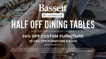 Bassett TV Spot, 'Custom Furniture for You: Half-Off Dining Tables' - Thumbnail 10