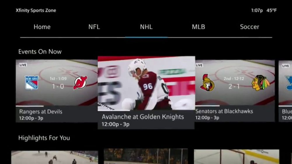 XFINITY Sports Zone TV Commercial, 'NHL Center Ice: Four Payments'