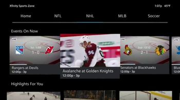 XFINITY Sports Zone TV Spot, 'NHL Center Ice: Four Payments' - 27 commercial airings