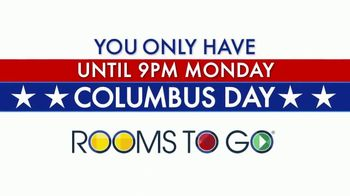 Rooms to Go TV Spot, 'Columbus Day: Time Is Running Out'