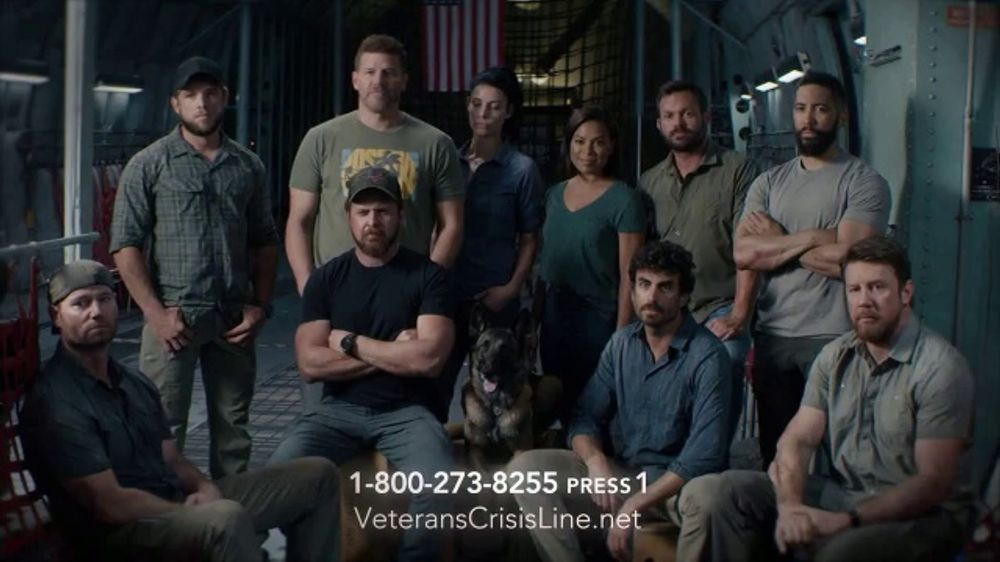 Veterans Crisis Line TV Commercial, 'SEAL Team Cast' Featuring David Boreanaz, Max Thieriot