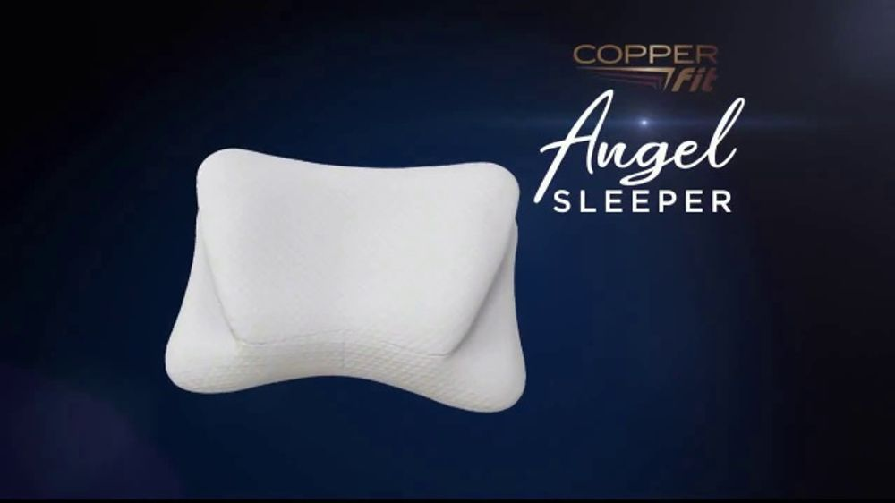 Copper Fit Angel Sleeper Orthopedic Pillow Tv Commercial