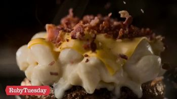 Ruby Tuesday Mac\'N Cheese Burger TV Spot, \'$7.99 Meal and Endless Garden Bar for $3.99\'