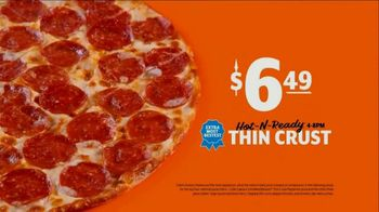 Little Caesars Hot-N-Ready Thin Crust Pizza TV Spot, 'No Crust' - Thumbnail 5