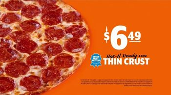 Little Caesars Pizza Hot-N-Ready Thin Crust TV Spot, 'Sin masa' [Spanish] - Thumbnail 6