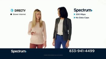Spectrum TV + Internet TV Spot, \'Comparison Speeds & Sports: DIRECTV\'