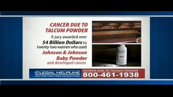 Guardian Legal Network TV Spot, 'Ovarian Cancer Due to Talcum Powder' - Thumbnail 5