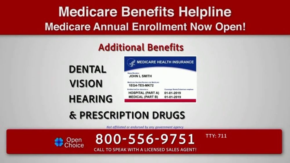 Open Choice Medicare Benefits Helpline TV Commercial, 'Additional Medicare Covered Benefits'
