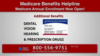 Open Choice Medicare Benefits Helpline TV Spot, 'Additional Medicare Covered Benefits' - Thumbnail 1