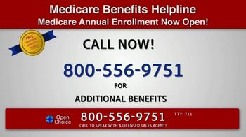 Open Choice Medicare Benefits Helpline TV Spot, 'Additional Medicare Covered Benefits' - Thumbnail 3