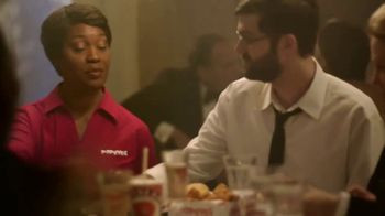 Popeyes $5 Parmesan Ranch Double Dippers TV Spot, 'Fancy Dinner' - Thumbnail 2