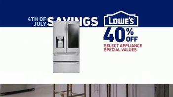 Lowe's July 4th Savings TV Spot, 'Happy Hunting: LG Refrigerator' - Thumbnail 8