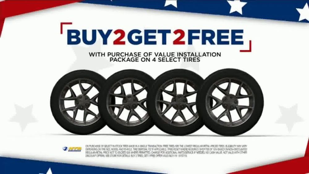 National Tire And Wheel >> National Tire Battery 4th Of July Savings Tv Commercial Buy Two Get Two No Interest Video