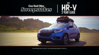Honda TV Spot, 'Time for Adventure: One Tank Trips Sweepstakes' [T2] - Thumbnail 6