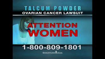 Knightline Legal TV Spot, 'Talcum Powder: Ovarian Cancer' - Thumbnail 3