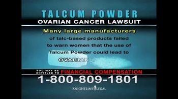 Knightline Legal TV Spot, 'Talcum Powder: Ovarian Cancer' - Thumbnail 6