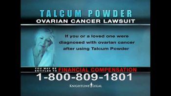 Knightline Legal TV Spot, 'Talcum Powder: Ovarian Cancer' - Thumbnail 7