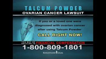 Knightline Legal TV Spot, 'Talcum Powder: Ovarian Cancer' - Thumbnail 8