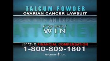 Knightline Legal TV Spot, 'Talcum Powder: Ovarian Cancer' - Thumbnail 9