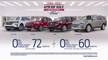 Ford 4th of July Sales Event TV Spot, 'SUV Lineup' [T2] - Thumbnail 6