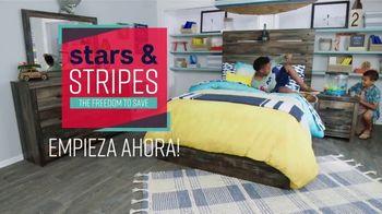 Ashley HomeStore Stars & Stripes the Freedom to Save Event TV Spot, 'Evita las multitudes' canción de Midnight Riot [Spanish] - Thumbnail 1