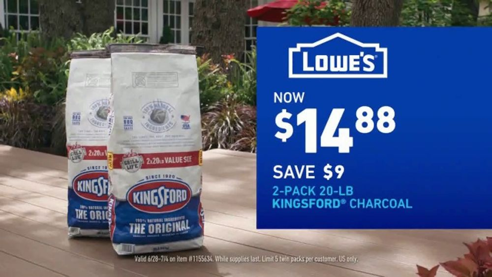 Lowe S Tv Commercial July 4th Charcoal And Mulch