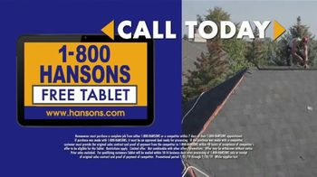 1-800-HANSONS TV Spot, 'Fireworks: Storm-Resistant Roofing' - Thumbnail 6