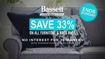 Bassett 4th of July Sale TV Spot, 'Furniture and Area Rugs: Save 33 Percent' - Thumbnail 9