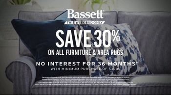 Bassett July 4th Sale TV Spot, 'Furniture and Area Rugs' - Thumbnail 9