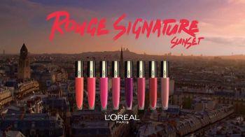 L'Oreal Paris Rouge Signature Sunset TV Spot, 'More Colors' - Thumbnail 7