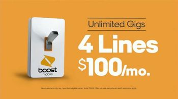 Boost Mobile Unlimited Gigs TV Spot, 'Road Trip: Four Lines' - Thumbnail 7